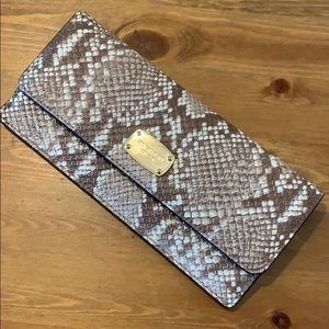 SUPER RARE🔥 MK SNAKESKIN DESIGN SLIM LONG WALLET
